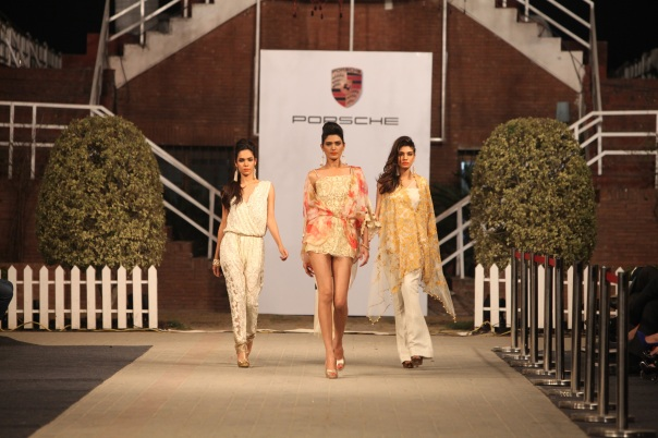 Faraz Manan at Porsche Polo Diaries Fashion Show. A multi-designer collection paying tribute to the historical game of Polo.