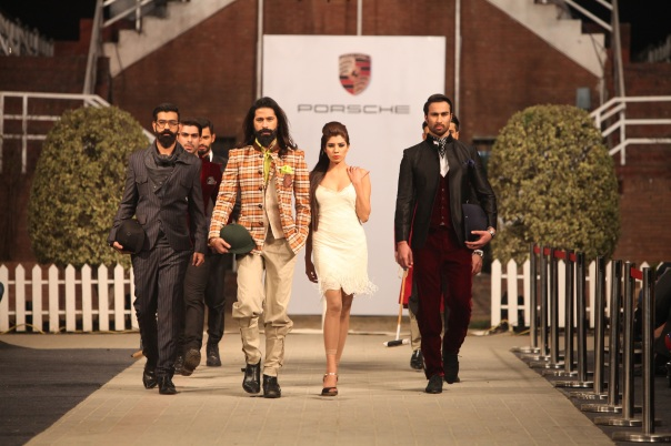 Munib Nawaz at Porsche Polo Diaries Fashion Show. A multi-designer collection paying tribute to the historical game of Polo.